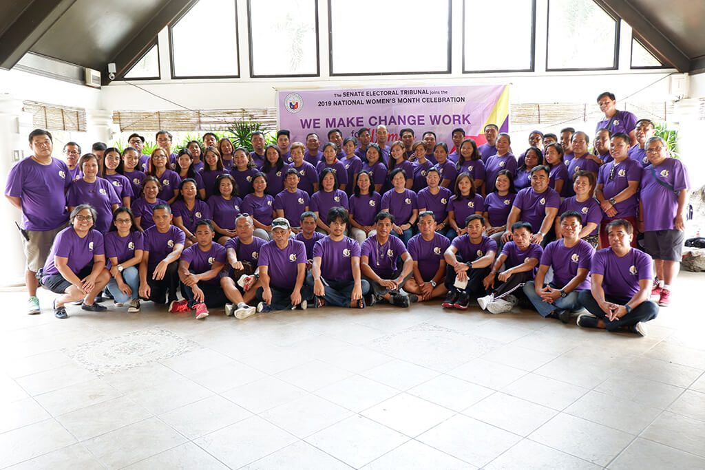 Senate Electoral Tribunal personnel celebrated the CY 2019 National Women's Month at the Municipality of Bustos, Bulacan last 14-15 March 2019.